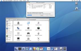 Capture d'écran de Mac OS X en pleine mise à jour