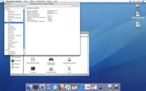 Capture écran information système G3 sous Mac OS 10.4.11
