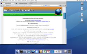 Navigateur TenFourFox sur un G3 à 400 MHz sous Mac OS 10.4.11