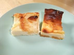 Photo avec parts de Clafoutis-Flan aux pommes à côté de Clafoutis-Flan aux abricots