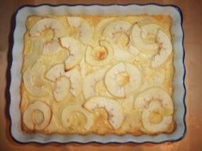 Photo du Clafoutis aux Pommes sortant du four