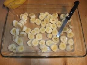 Plus de rondelles de bananes dans le plat