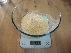 Photo du saladier avec ajout du fromage