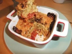 Crumble à la tomates en phase 'dégustation'