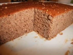 Détail de la pâte cuite ressemblant à de la mie de pain